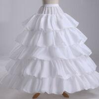 Black Red White Wedding Bridal Petticoats Prom Underskirt Wedding Gown Crinoline