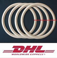 "White Wall 17"" Slim Motorcycle Portawall Tire insert trim set of 4"