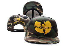 Adult/Girls/Boys Wu-Tang Clan Hip-Hop Baseball Cap in Camouflage - One Size