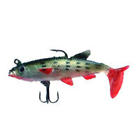 5Pcs 14g Soft Bait Lead Head Fish Lures Bass Fishing Tackle Sharp Hook T Tail N3