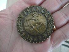 Médaille Scoutisme ancienne en bronze Jamboree de la Paix 1947 signée POILLERAT