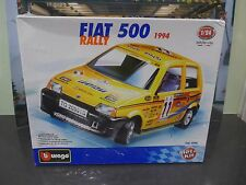 Fiat 500 Rally 1994 metal kit with plastic parts sealed in box made in Italy