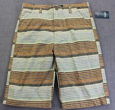 Lucky Brand Logo Boys Pastel Striped Chino Shorts Nwt Size 12 $39