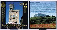 Offizieller Kurssatz San Marino 1 Cent bis 5 Euro Silber(!) 2004 prägefrisch