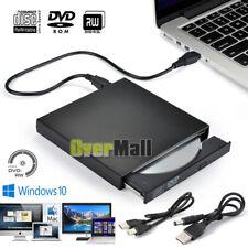 5Gbps External DVD CD Writer Drive Burner Reader Player For Laptop USB 2.0 Slim