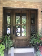 KNOTTY ALDER 4 Lite Craftsman/Mission Style Entry Door