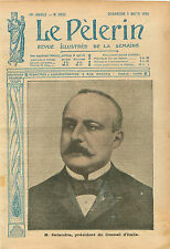 Portrait Antonio Salandra President Consiglio dei ministri WWI 1916 ILLUSTRATION