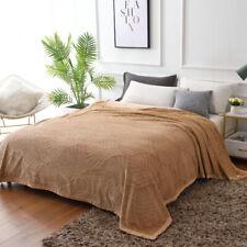New Flannel Embossed Warm Throws Blanket Summer Autumn Bedding Bedspread Blanket