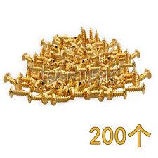 200*Golden Guitar Bass Pickguard Screw For ST TL SG Guitar Parts Replacement