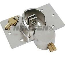 Round van twin door padlock and hasp lock HIGH SECURITY garage shed repair 73mm