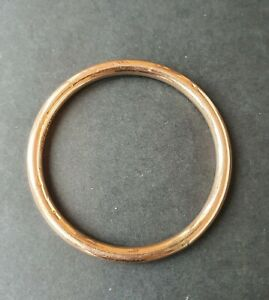 Vintage 9ct Rose Gold & Silver Lined Bangle, 7.3 Grams, Not Scrap
