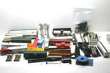 Lot HO Scale Train Parts Railcars+Transformer+Track Wiring+Boxcars+Tank+