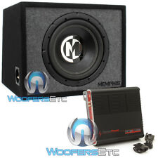 "pkg MEMPHIS PRXE12S 12"" LOADED SUBWOOFER SPEAKER BASS BOX + PPI TRAX1.1200D AMP"