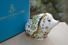 """Royal Crown Derby Paperweight """"CHRISTMAS HEDGEHOG"""" NEW  1st Quality & Orig Box"""