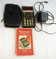 Texas Instruments SR-56 Owners Manual Case Charger Plug Non Working Calculator