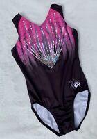 NASTIA LIUKIN Gymnastics Leotard GK ELITE  SEQUIN Bling STAR PINK FUSION Size CL