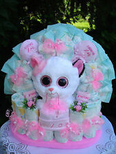 """Windeltorte""""Glubschi-Kätzchen Muffin und Babyset """"Geburt,Taufe,Geburtstag!rosa"""