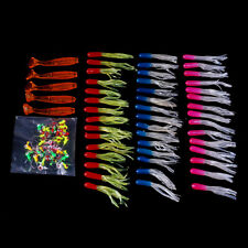 100pc Colorful Mixed Soft Lure Jig Hooks Fishing Lures Spinner Baits Bass Tackle