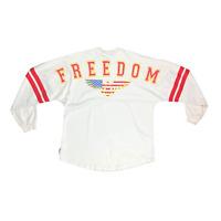 Spirit Jersey Unisex M Freedom Eagle Flag 1776 NYS Beige Long Sleeve