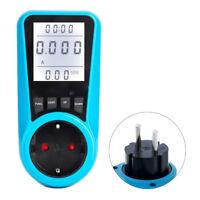 AC Power Meter 230V EU Plugs Socket Digitals Wattmeter Watt Energy Meter Timers