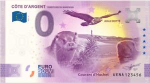 Billet Zero Euro Schein Souvenir Touristique 2021 Cote D'Argent