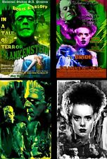 Frankenstein and Bride of Frankenstein Lot of 4 prints Quality Posters