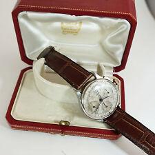 Cartier 35mm Acciaio Cronografo JAEGER LECOULTRE COMPAX enversteel 1938 RARE