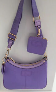 River Island Scoop Cross Body Bag With Pouch And Adjustable Strap In Purple BNWT