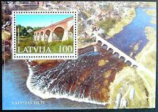 Latvia Souvenir Sheet - Venta River Bridge_2002 - MNH.