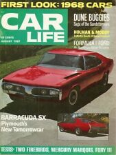 CAR LIFE 1967 AUG - NEW CARS,HOLMAN-MOODY,FORMULA SX,FIREBIRD 400,AVANTI
