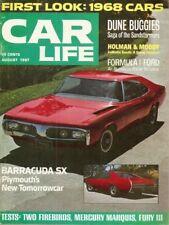 CAR LIFE 1967 AUG - NEW CARS,HOLMAN-MOODY,FORMULA SX,FIREBIRD 400,AVANTI