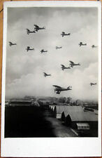 1915 Realphoto French Aviation Postcard: Airplanes over Hangars, Le Bourget