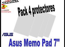"**Pack 4 Protectores de pantalla para Asus Memo Pad 7"" universal Tablet"