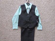 Boys Holiday Editions 4 Piece Outfit Vest NeckTie Pants Dress Shirt Purple Sze 6