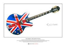 Noel Gallagher's 1960's Epiphone Sheraton Ltd Edition Fine Art Print A3 size