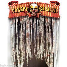 1.37m Halloween CREEPY CARNIVAL Party Door Doorway Curtain Decoration