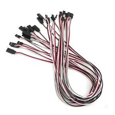 """NEW 20"""" 500mm 50cm Servo Extension Lead Wire Cord Cable for rc car heli 15pcs S"""