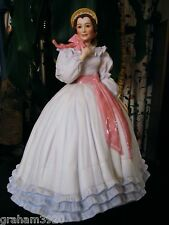 "Gone With the Wind ~""MELANIE WILKES""~11"" FIGURINE~ By: Franklin Mint ~1988"