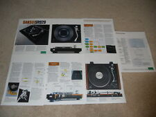Sansui SR929 Turntable Brochure, 7 pg, Specs, Info, Articles and Pictures