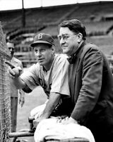 Branch Rickey &  Leo Durocher Photo 8X10 Dodgers