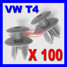100x VW T4 T5 TRANSPORTER INTERIOR TRIM PANEL LINING CLIPS DARK GREY PLASTIC