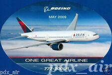 DELTA ONE GREAT AIRLINE BOEING 777-200LR LONG RANGE STICKER