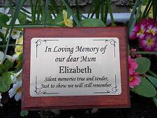 Einfarbig Holz Denkmal Anteil Grab Spike Einäscherung mit Personalisierte Tafel
