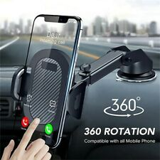 Car Dashboard Phone Holder Long -Neck Adjustable 360° Rotatable Mount Stand New
