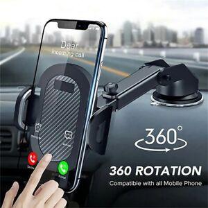 Car Dashboard Phone Holder Long-Neck Adjustable 360° Rotation Strong Mount Stand