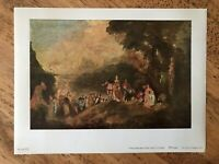 Jean-Antoine Watteau - The Embarkation for Cythera - Vintage Print