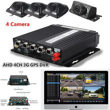 4CH AHD Car DVR SD 3G Wireless GPS Realtime Driving Video Recorder + 4 Cameras