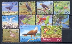 Solomon Island Bird set mnh vf missing low value Scott 904-913A    44.20