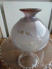 Vintage Art Glass Signed Clark Guettel Controlled Bubble Vase Canadian Artist