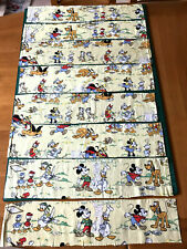 8 Pieces Vintage Walt Disney Characters Fabric Remnants Donald Duck Pluto Mickey